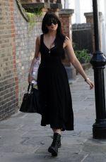 DAISY LOWE Out in London 09/08/2016
