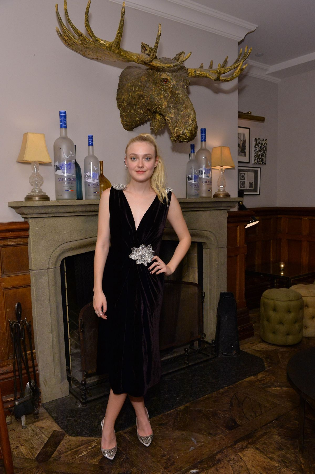 DAKOTA FANNING at Grey Goose Vodka and Soho House Party in Toronto 09/12/2016