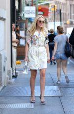DAKOTA FANNING Leaves Her Apartment in New York 09/07/2016