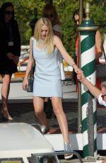 DAKOTA FANNING Leaves Hotel Excelsior in Venice 09/02/2016