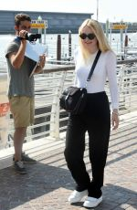 DAKOTA FANNING Out and About in Venice 09/04/2016
