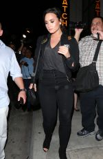 DEMI LOVATO Arrives at Catch Restaurant in West Hollywood 09/27/2016