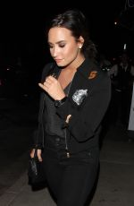 DEMI LOVATO Leaves Catch Restaurant in West Hollywood 09/27/2016