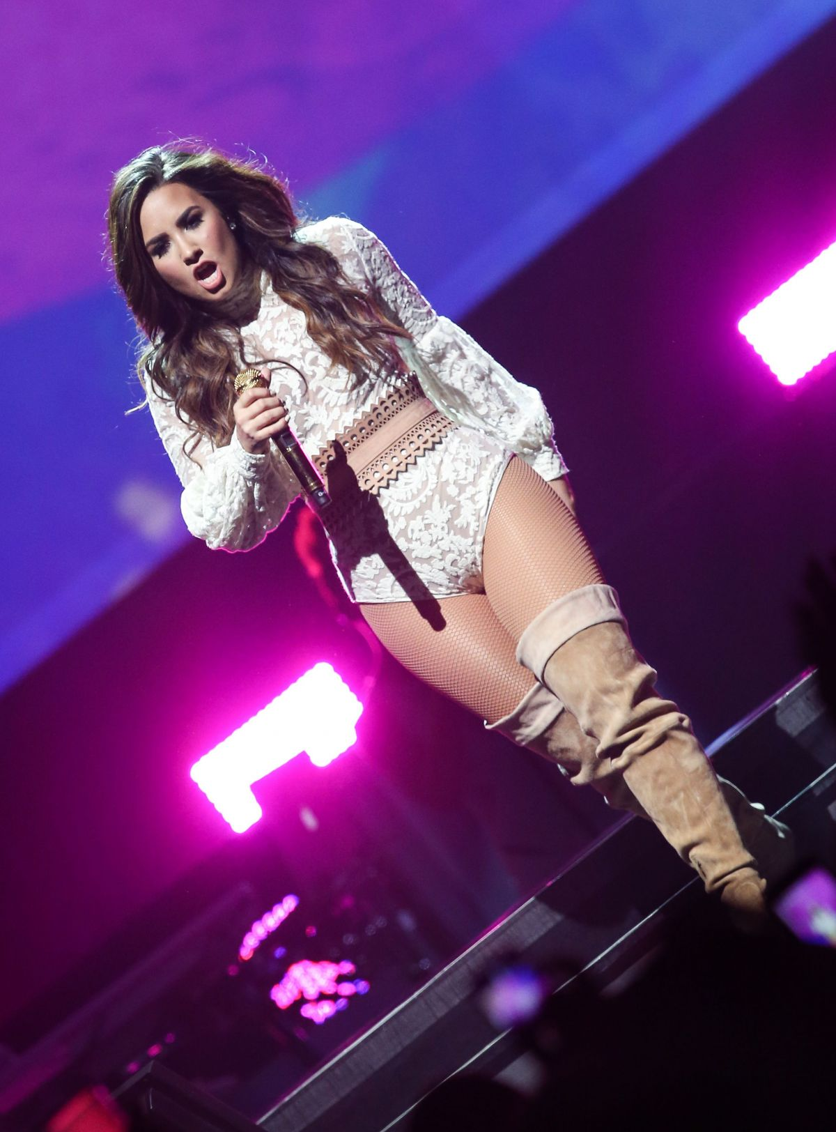 Demi Lovato Performs At A Concert In Nashville