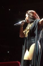 DEMI LOVATO Perofrms at a Concert in Dallas 09/12/2016