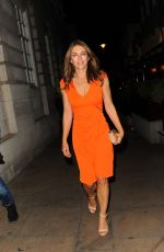 ELIZABETH HURLEY at Oliver Peoples Store Launch Party in London 09/14/2016