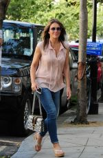 ELIZABETH HURLEY Out and About in London 09/14/2016
