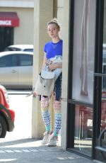 ELLE FANNING Arrives at a Gym in Los Angeles 09/21/2016