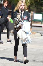 ELLE FANNING Arriving for Workout in Los Angeles 09/23/2016