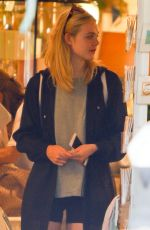 ELLE FANNING at Aroma Cafe in Studio City 09/08/2016