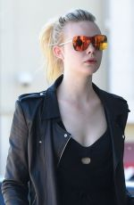 ELLE FANNING Heading to a Gym in Los Angeles 09/26/2016
