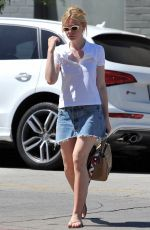 ELLE FANNING Leaves a Nail Salon in West Hollywood 09/01/2016
