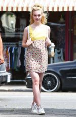 ELLE FANNING Out and About in Los Angeles 09/20/2016