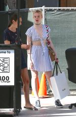ELLE FANNING Out and About in West Hollywood 09/03/2016
