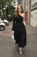 ELLIE BAMBER Out and About in Milan 09/22/2016