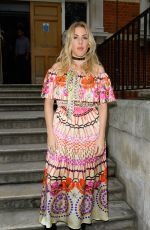 ELLIE GOULDING at Temperley Fashion Show in London 09/18/2016