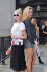 ELSA HOSK and STELLA MAXWELL Out and About in New York 09/12/2016