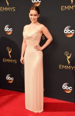 EMILIA CLARKE at 68th Annual Primetime Emmy Awards in Los Angeles 09/18/2016