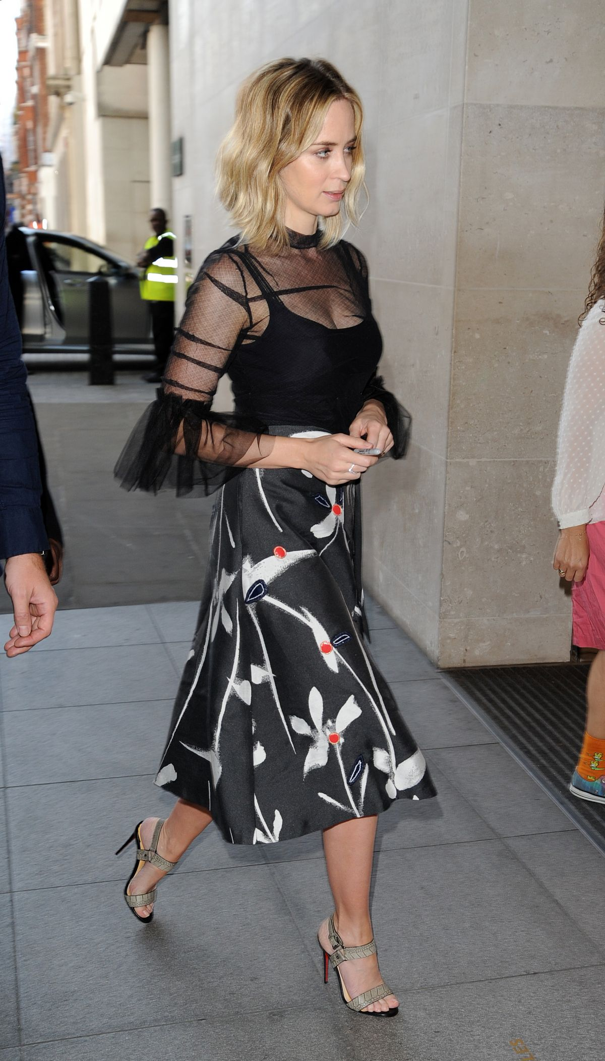 EMILY BLUNT Arrives at BBC Radio 1 Studios in London 09/20/2016