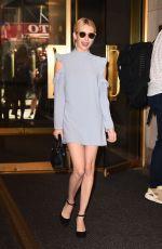 EMMA ROBERTS at NBC Studios in New York 09/14/2016
