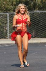 EMMA SLATER on the Set of DWTS Season 23 Promos in Los Angeles 08/29/2016