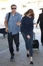 EMMA STONE Arrives at Pearson International Airport in Toronto 09/14/2016