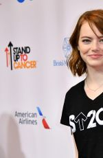 EMMA STONE at 5th Biennial Stand Up To Cancer in Los Angeles 09/09/2016
