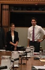 EMMA WATSON Meeting Prime Minister of Canada Justin Trudeau for Her