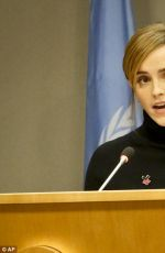 EMMA WATSON Talks at United Nations General Assembly in New York 09/20/2016