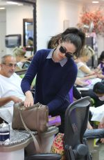 EMMY ROSSUM at a Nail Salon in Beverly Hills 09/14/2016