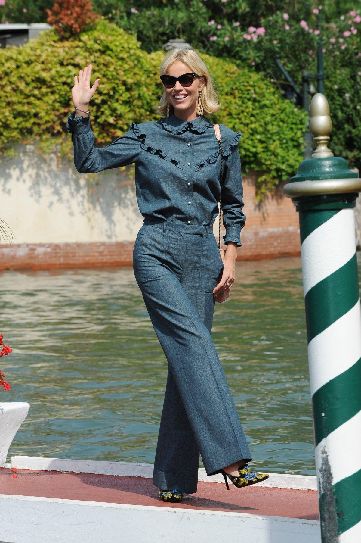 EVA HERZIGOVA Arrives at Lido in Venice 09/03/2016