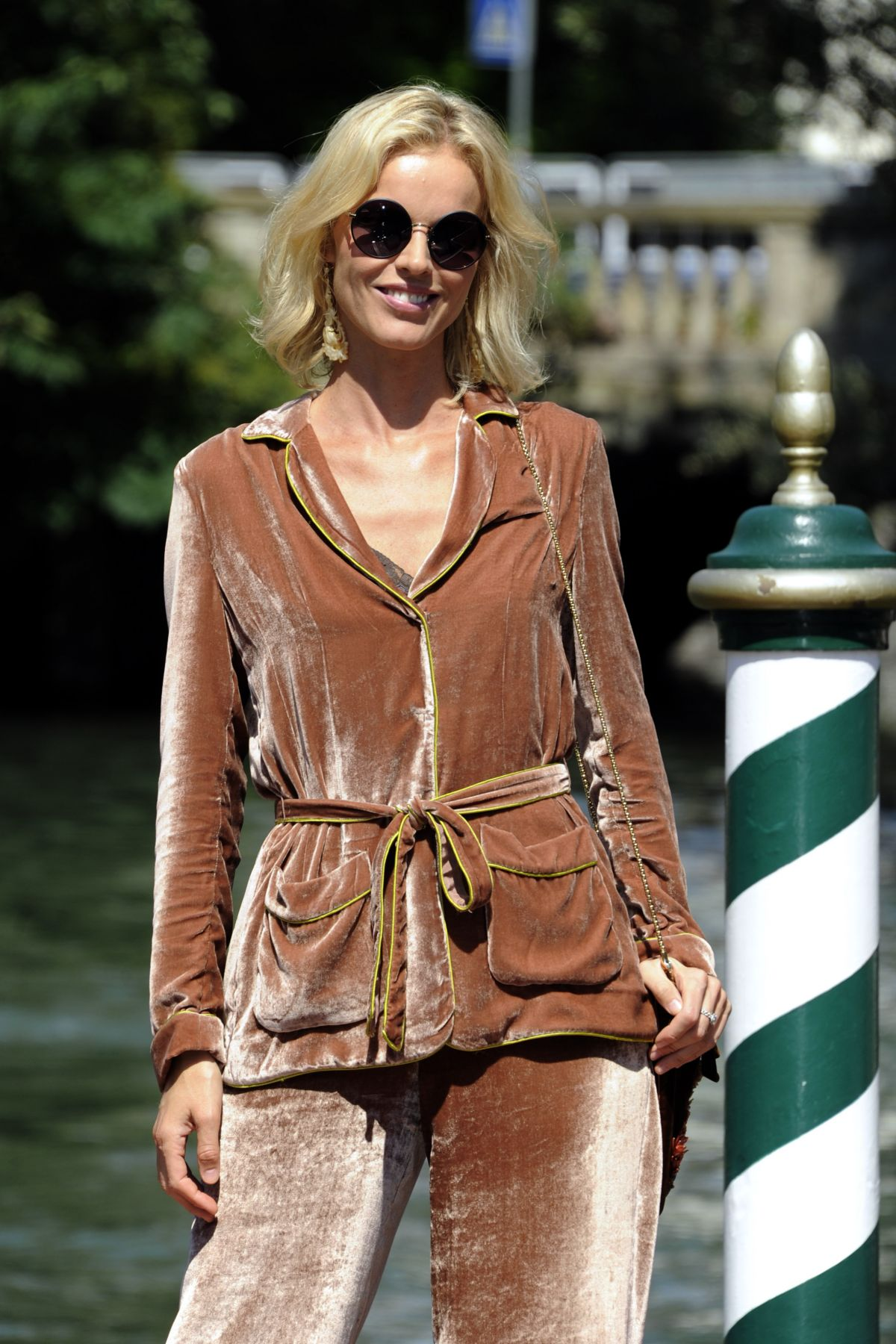 EVA HERZIGOVA Arrives in Venice 09/02/2016