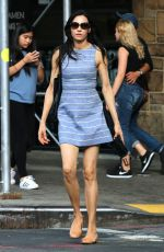 FAMKE JANSSEN Out and About in New York 09/10/2016