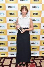 FELICITY JONES at IMDV StarMeter Award at TIFF in Toronto 09/10/2016
