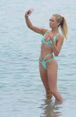 GEORGE HARRISON in Bikini on the Beach in Barcelona 08/27/2016