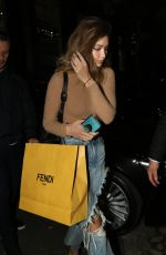 GIGI HADID Arrives at a Fitting at Fendi and Moschino in Milan 09/21/2016