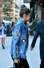GIGI HADID Arrives at Her Apartment in New York 09/15/2016