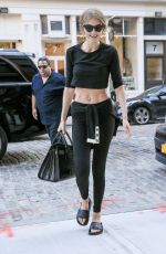 GIGI HADID Arrives at Her Hotel in New York 09/13/2016