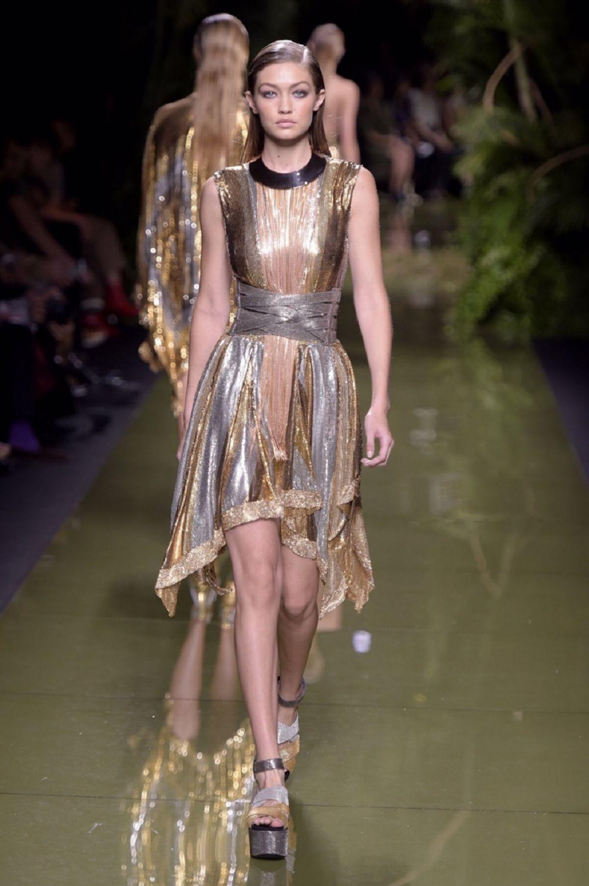 GIGI HADID At Balmain Fashion Show At Paris Fashion Week