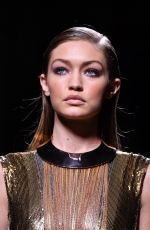 GIGI HADID at Balmain Fashion Show at Paris Fashion Week 09/29/2016