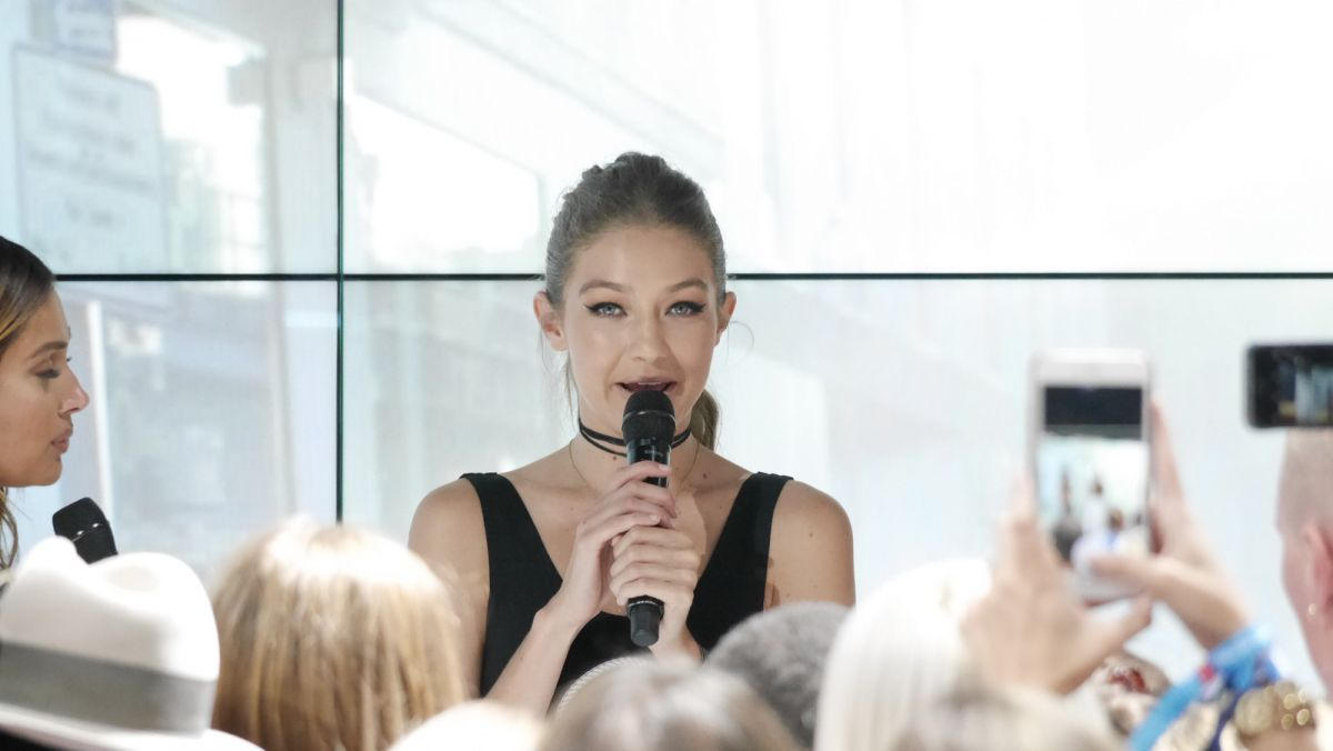 GIGI HADID at Gigi x Tommy Hilfiger Collection Event in Berlin 09/02/2016