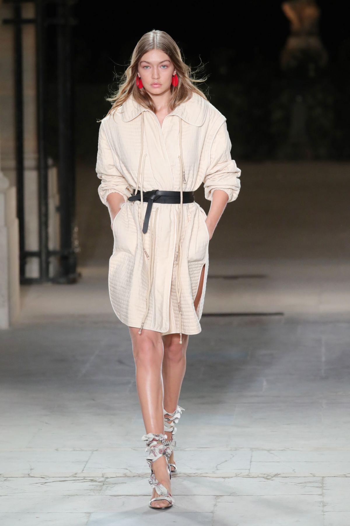 Gigi hadid at isabel marant show at paris fashion week 09 for Gigi hadid fashion week