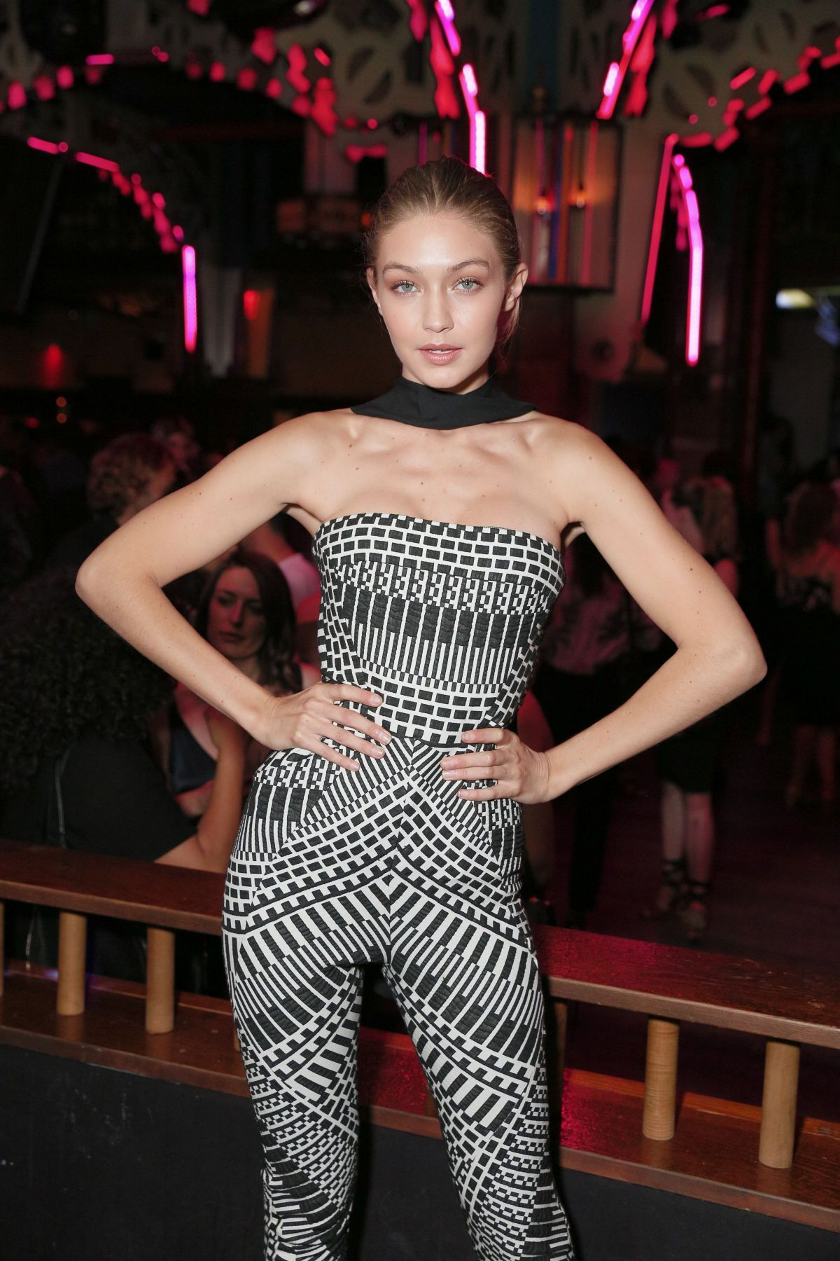 GIGI HADID at V Magazine Celebrates V103: Face the Music September Issue in New York 09/05/2016