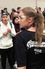 GIGI HADID Attacked by a Crazy Fan Vitalii Sediuk in Milan 09/22/2016