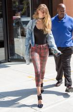 GIGI HADID Heading to a Fitting in New Tork 09/08/2016
