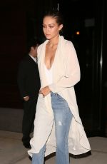 GIGI HADID Leaves Her Apartment in New York 09/04/2016