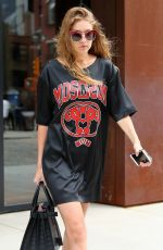 GIGI HADID Leaves Her Apartment in New York 09/06/2016