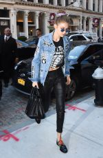 GIGI HADID Leaves Marc Jacobs Fashion Show in New York 09/15/2016