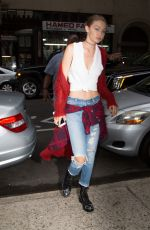 GIGI HADID Out and About in New York 09/10/2016