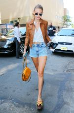 GIGI HADID Out and About in New York 09/04/2016